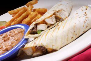 Beef fajita burrito