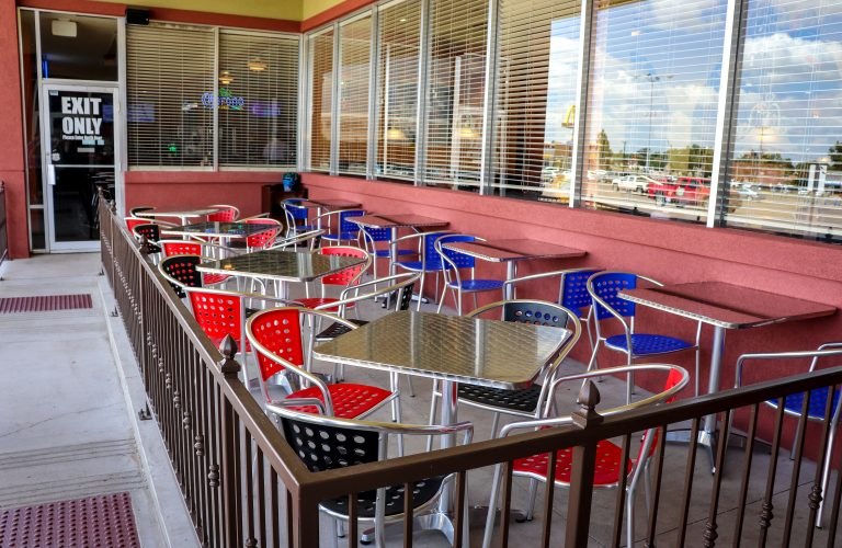 Plaza Pampa Remodel Patio Seating