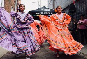 Mexican holiday festival dancers